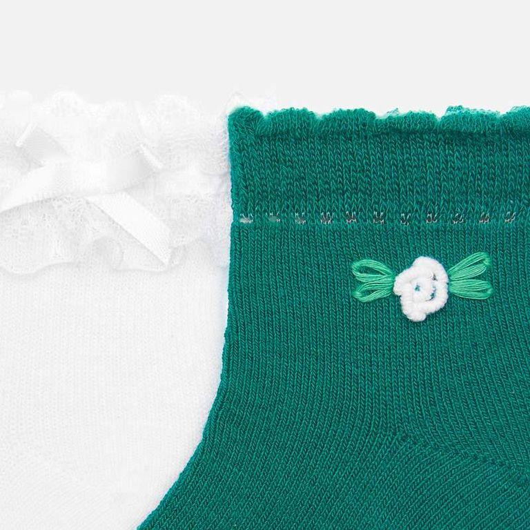 2 пары носков белые и зеленые (12,24 мес)
