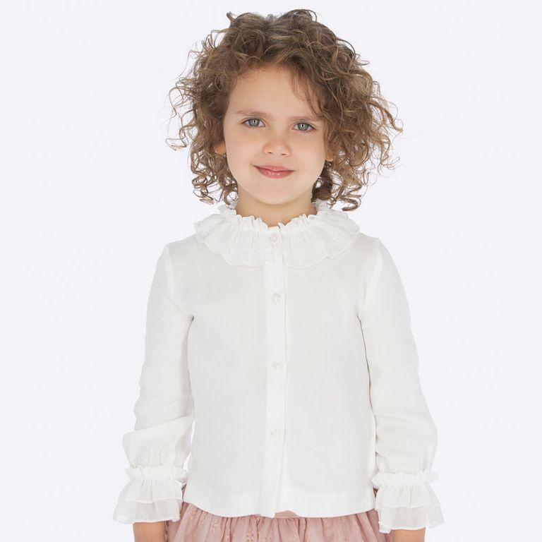 Блузка белая (3,4,5,6,7,9 лет)