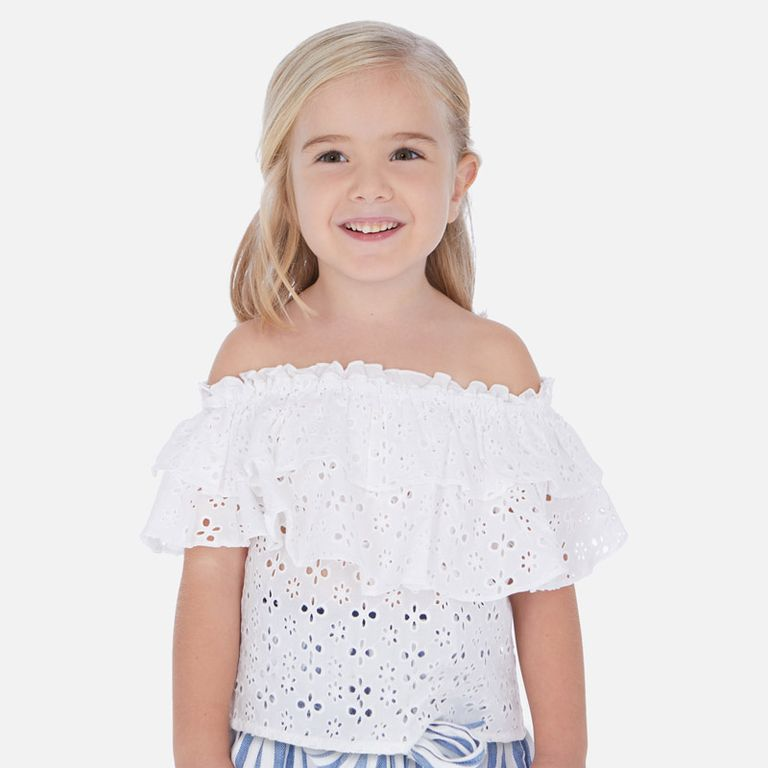 Блузка белая хлопковая (5,7,8 лет)