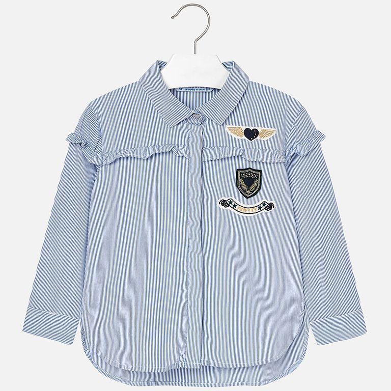 Блузка голубая в полоску «Pretty» (4,5 лет)