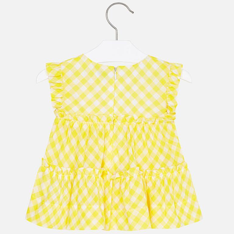 Блузка «Желтая клетка» (3,4,6 лет)