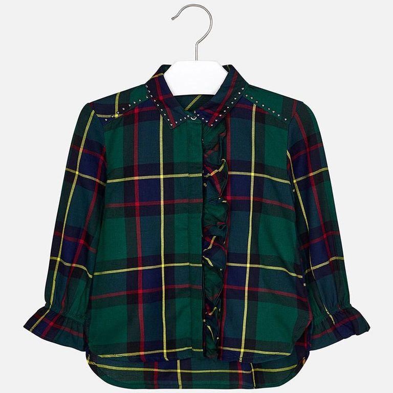 Блузка «Зеленая клетка» (3,5 лет)