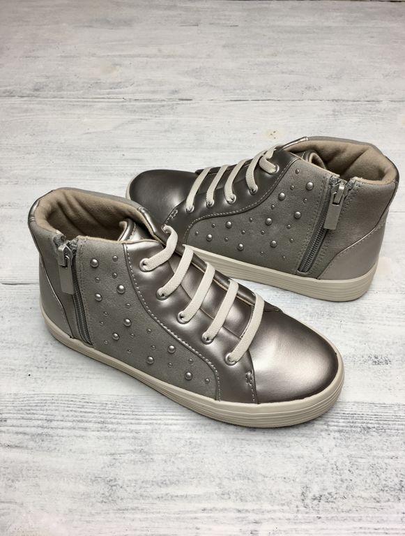 Ботинки для девочки серебро (р.28, 30, 33)