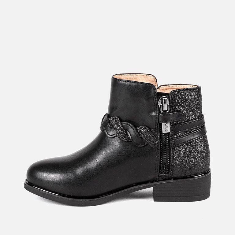 Ботинки черные с глиттером (р. 26, 27, 28, 32)