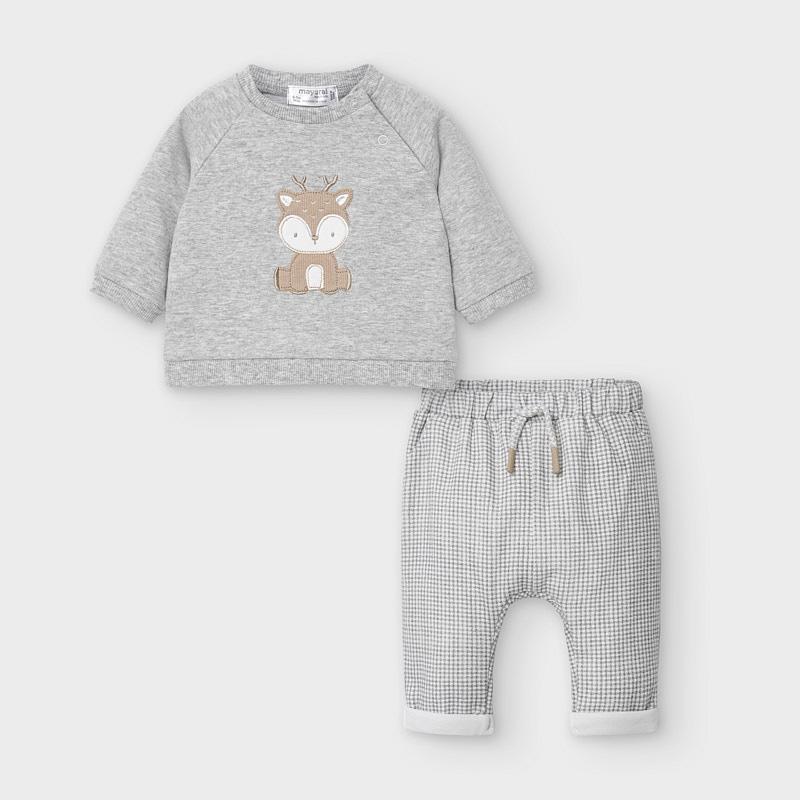 К-кт: пуловер и брюки «Олененок» (4-6; 6-9 мес)