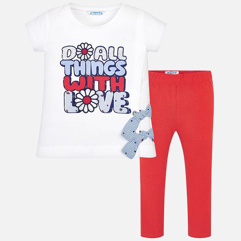 К-т: футболка и леггинсы «С любовью» (3,4 года)