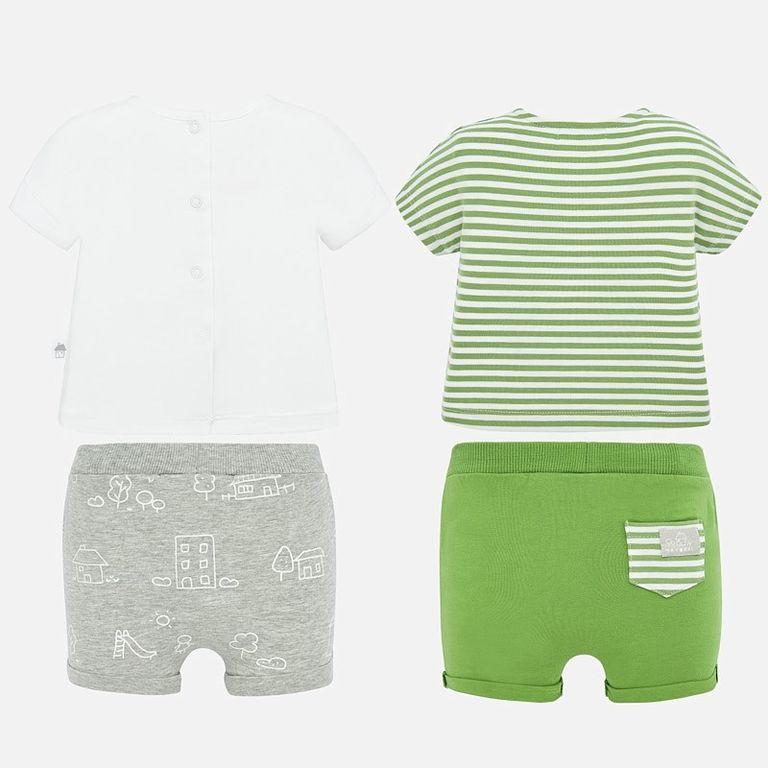 Комплект: 2 футболки и 2 пары шорт «Природа» (12 мес)
