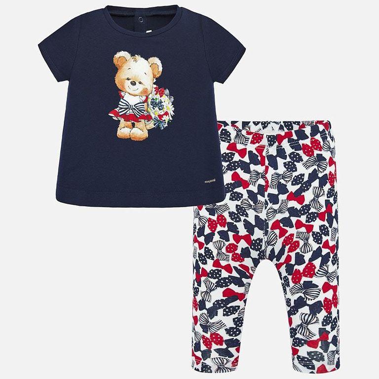 Комплект: легинсы и футболка «Мишка» (18 мес)