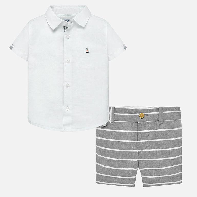 Комплект льняной рубашка и шорты (24, 36 мес)