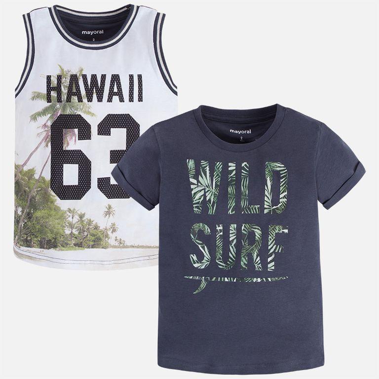 Комплект: майка и футболка Гавайи (2,3,4,5,6,7,8,9 лет)
