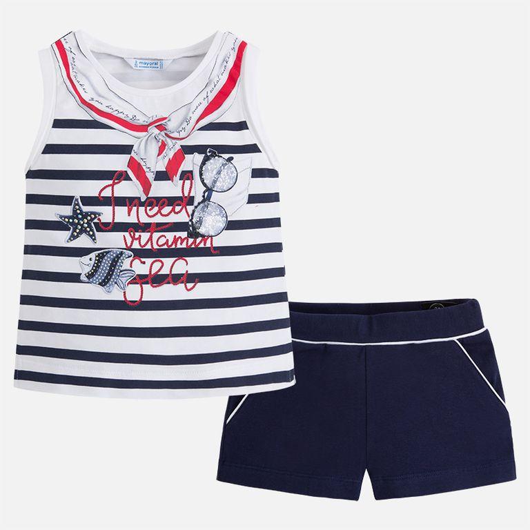 Комплект: майка и шорты «Море» (4,8 лет)