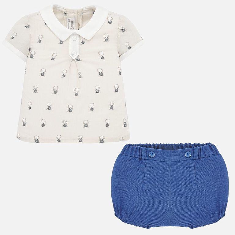 Комплект: рубашка и шорты «Зайки» (6-9 мес)