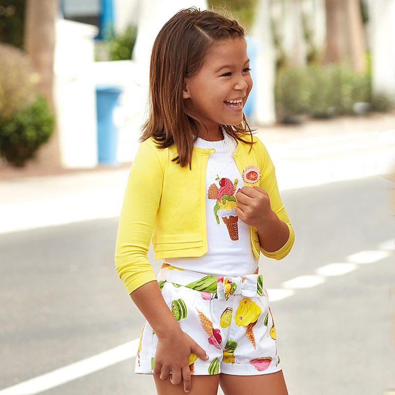 Комплект: футболка и болеро «Мороженое» (2,5,6,8 лет)