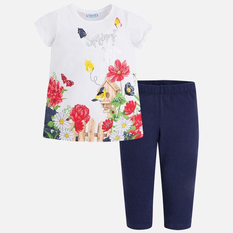 Комплект: футболка и леггинсы «Spring» (3,4,5,7,8 лет)