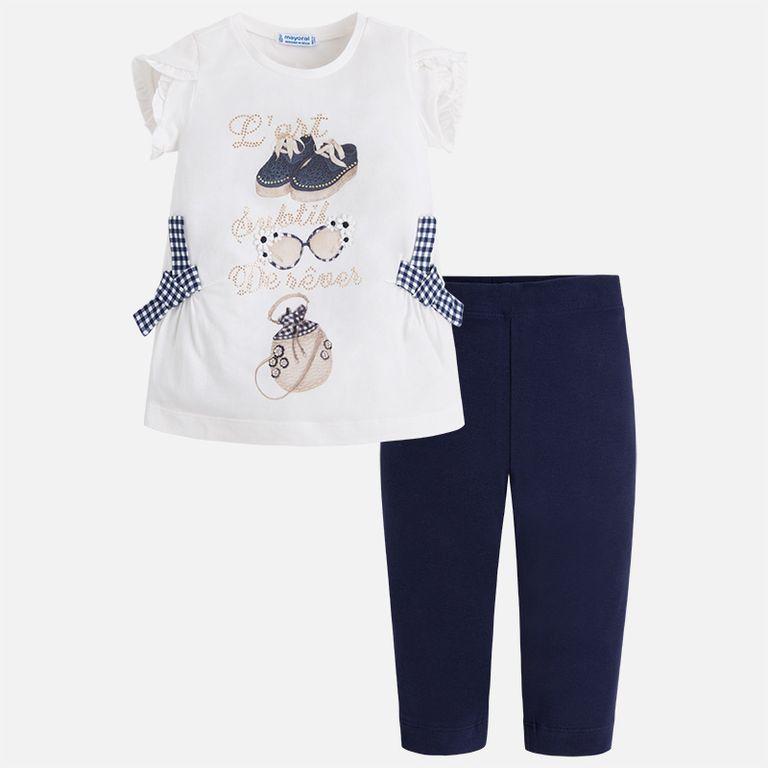 Комплект: футболка и легинсы (3,4,5,6,7 лет)