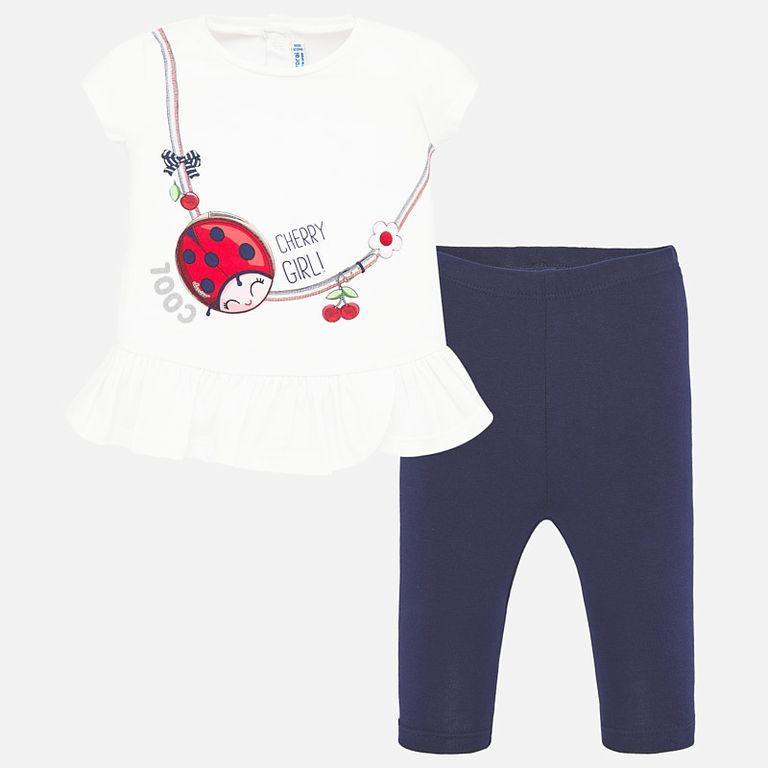 Комплект: футболка и легинсы «Божья коровка» (18,24,36 мес)