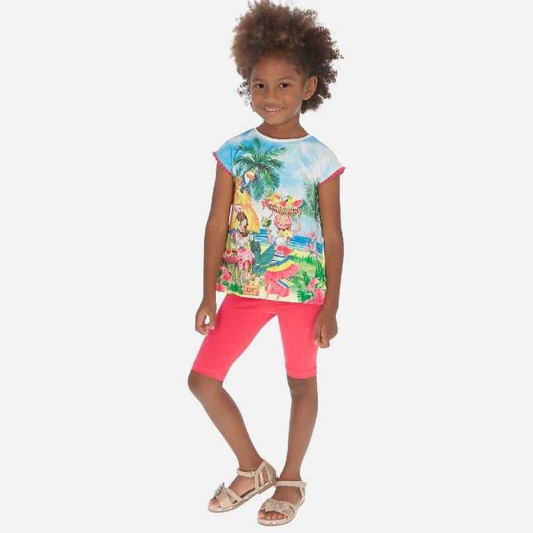 Комплект: футболка и легинсы «Гавайи» (4,5,6 лет)