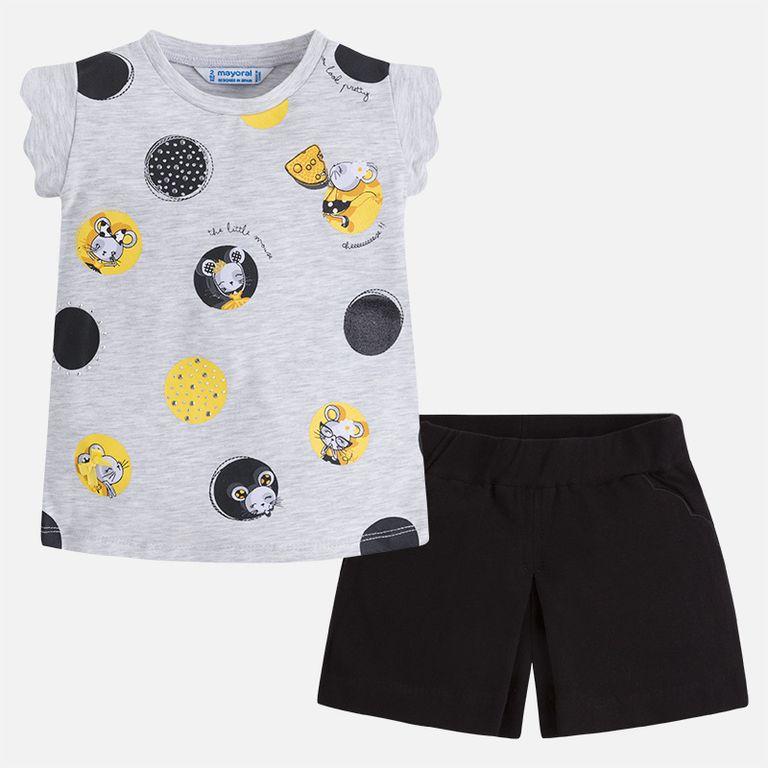 Комплект: шорты и футболка «Мышки» (3,4,5,6,8,9 лет)