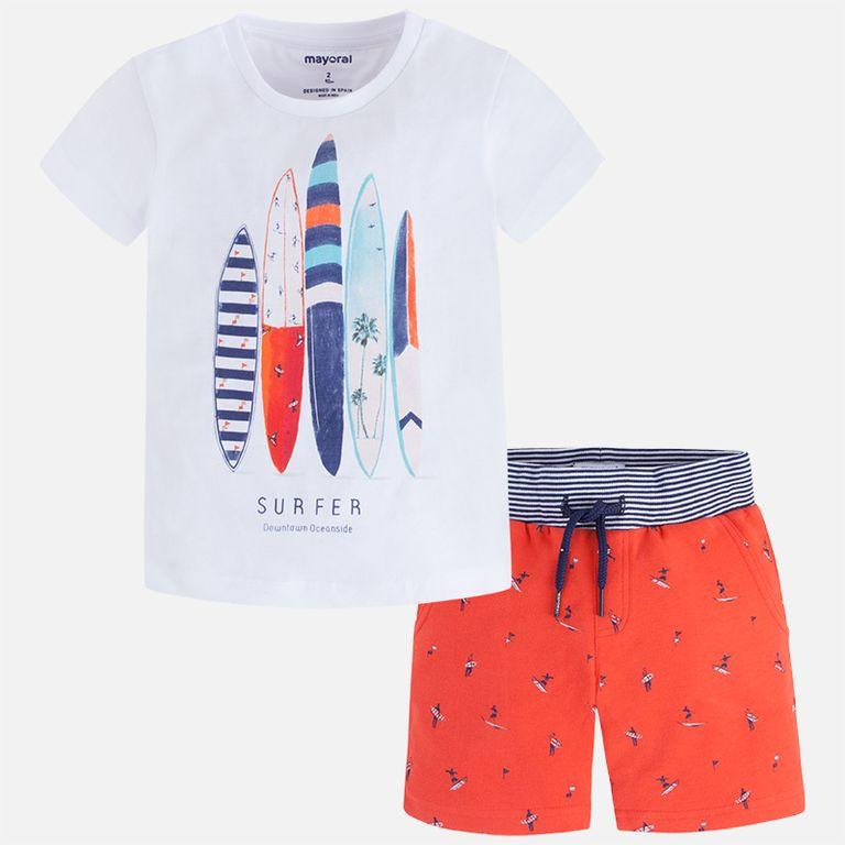 Комплект: шорты и футболка Сёрф нектарин (3,6,8,9 лет)