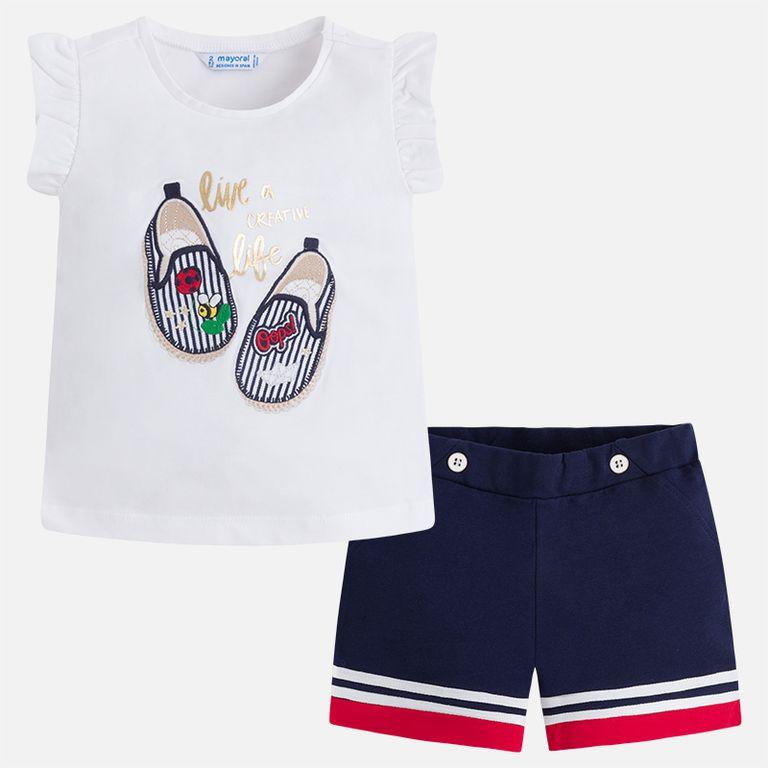 Комплект: шорты и футболка «Туфельки» (2,3,5,7,8,9 лет)