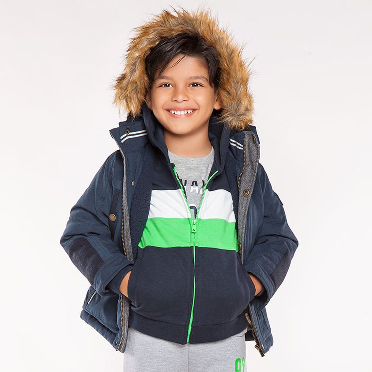 Куртка синяя с капюшоном (4,6,7 лет)