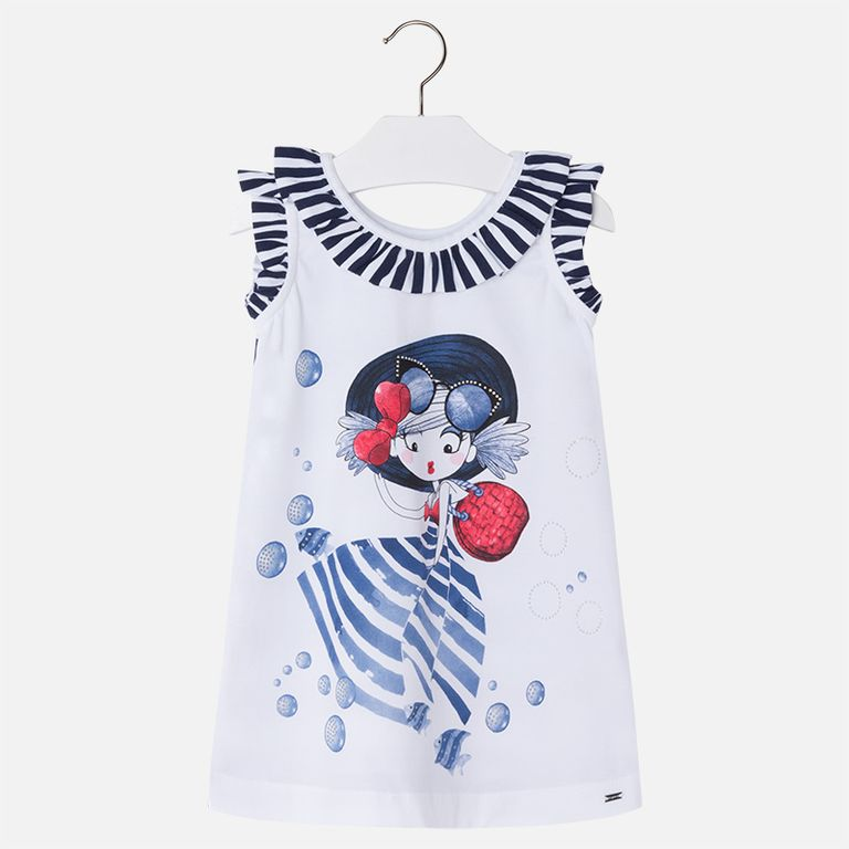 Платье «Девочка и рыбки» (2,3,4,5,7,8,9 лет)