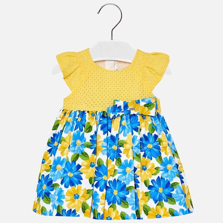 Платье желто-голубое (9,12 мес)