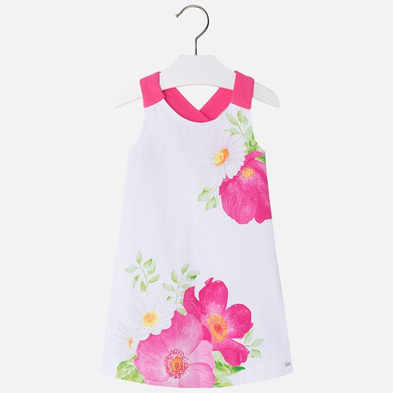 Платье с розовыми цветами (3,4,7,8,9 лет)