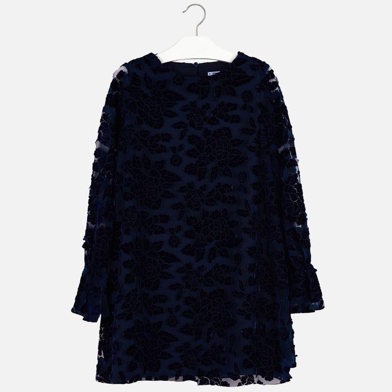 Платье темно-синее (10,12 лет)