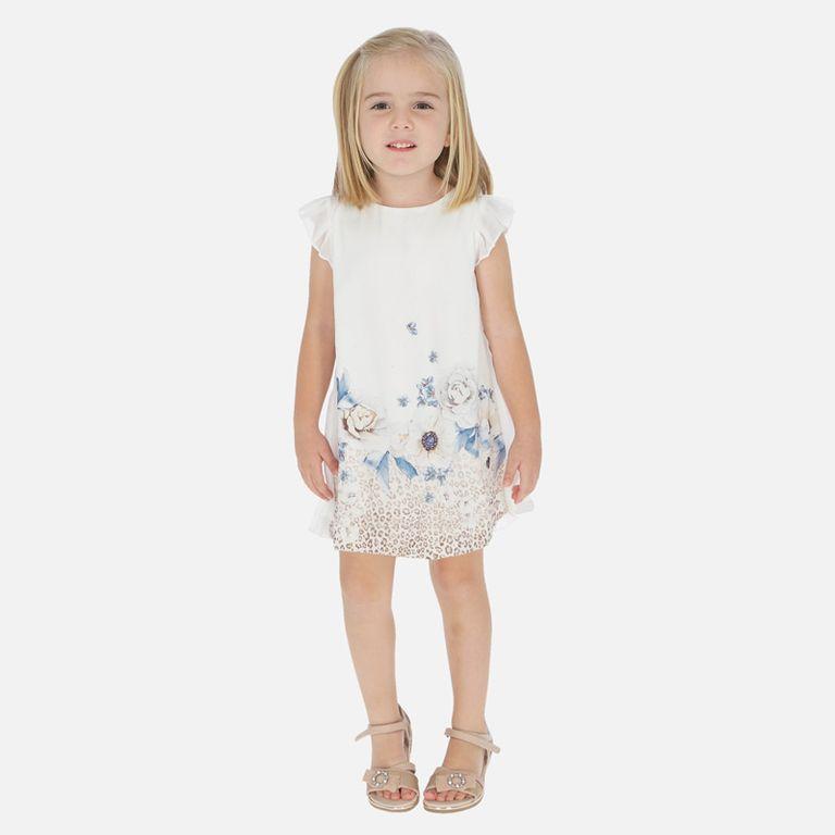 Платье «Цветы беж» (4,5,6 лет)