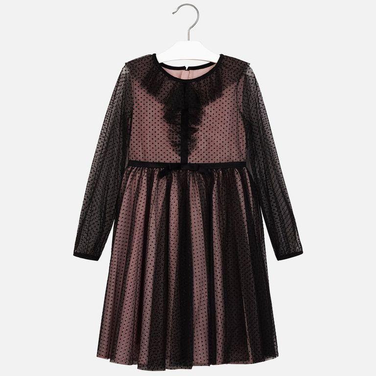 Платье черно-розовое (10 лет)