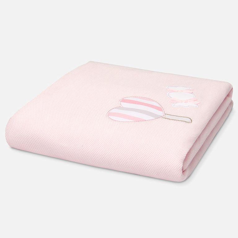 Плед розовый