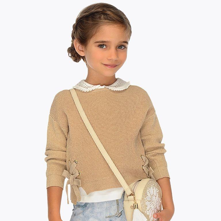 Пуловер золотой (8,9 лет)