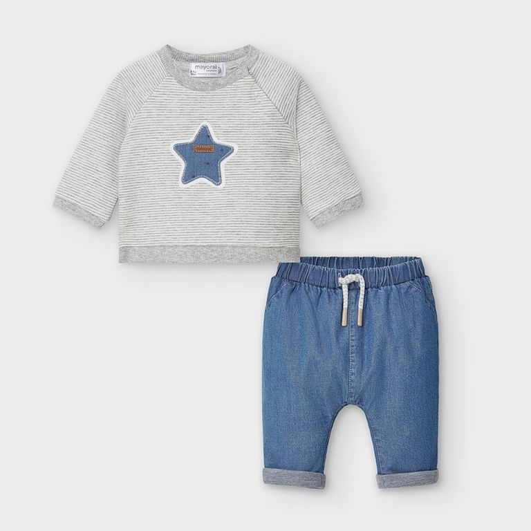 Пуловер и брюки «Star» (6-9; 12 мес)