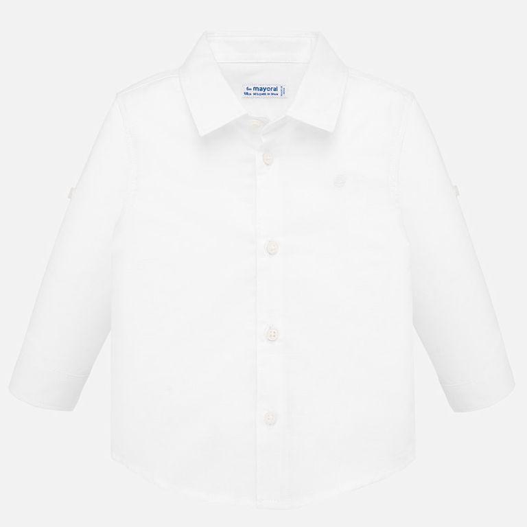 Рубашка белая «Лён» (24,36 мес)