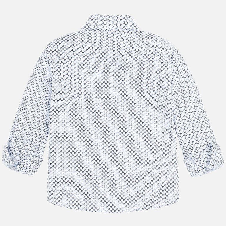 Рубашка белая с голубым «R2» (5,6,7 лет)
