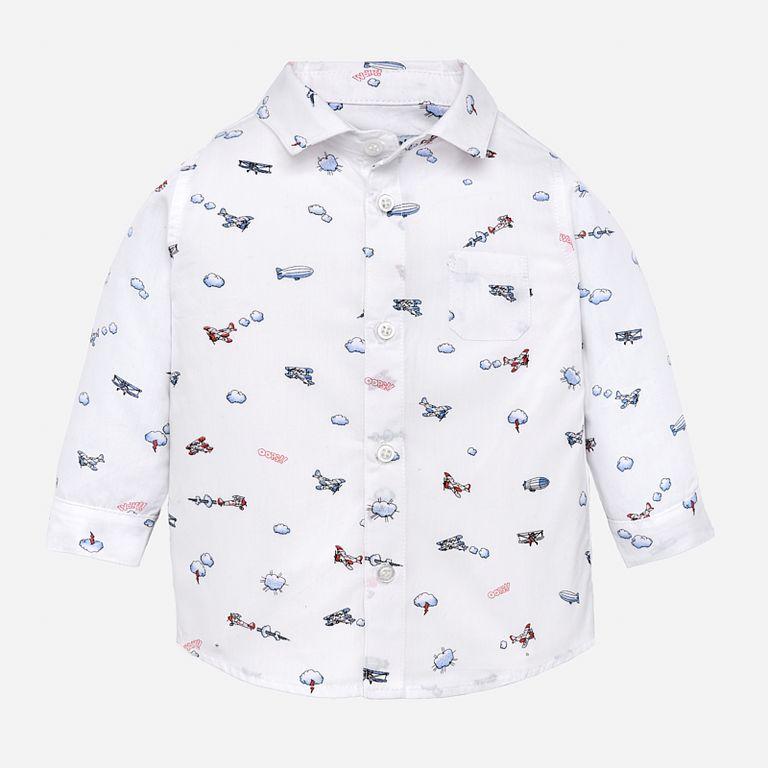 Рубашка белая «Самолеты» (24)