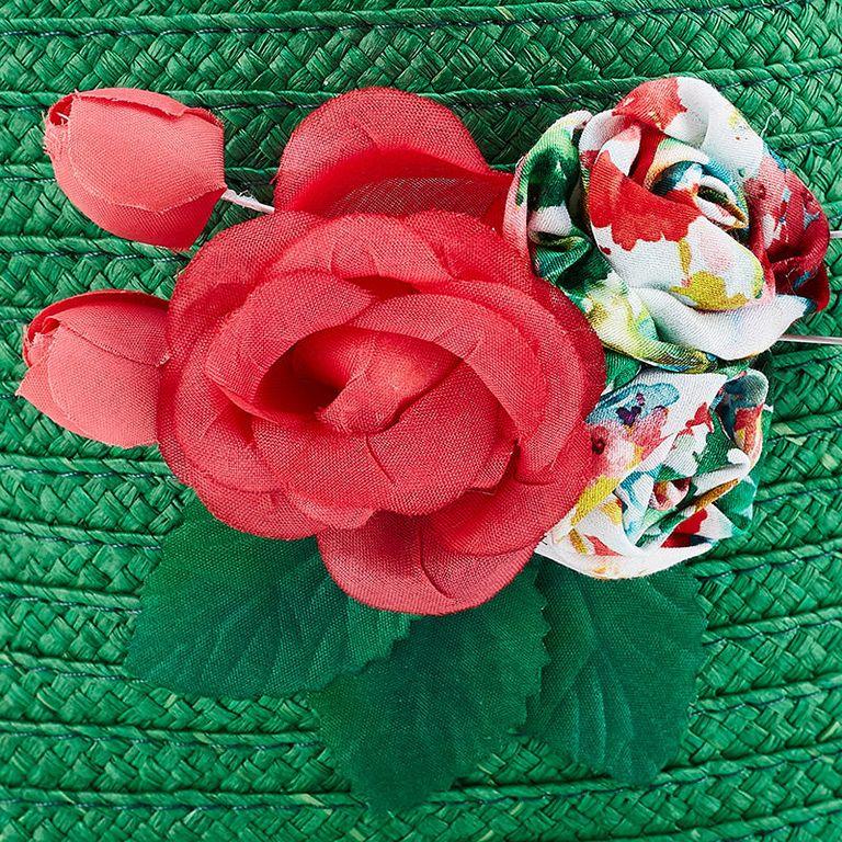 Сумочка зеленая «Цветы»