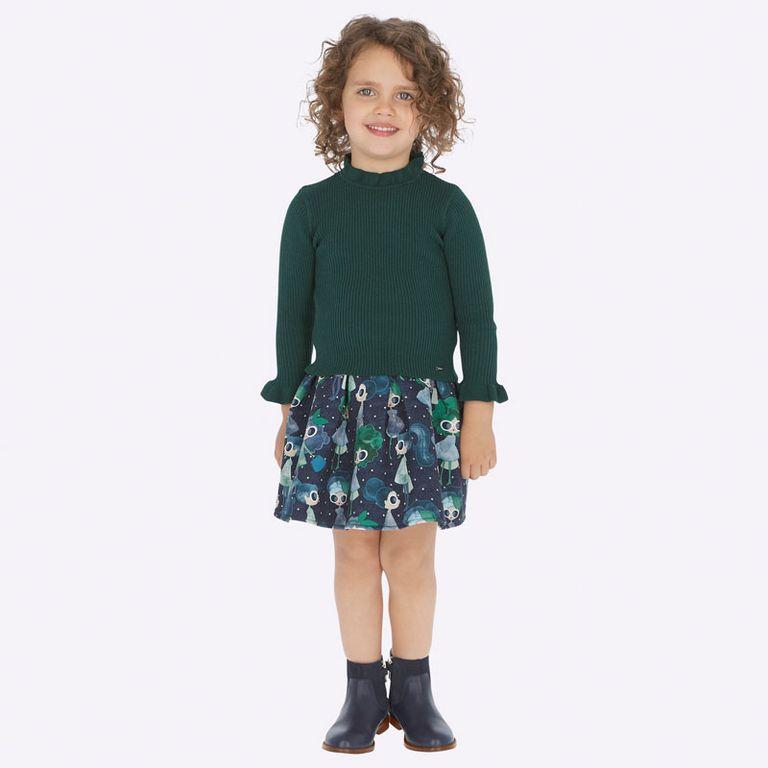 Юбка сине-зеленая «Модницы» (3,4,7 лет)