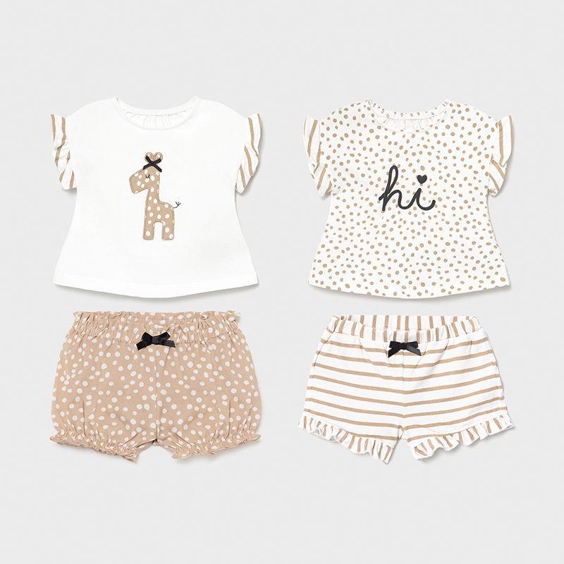2 футболки и 2 пары шорт «Жираф»