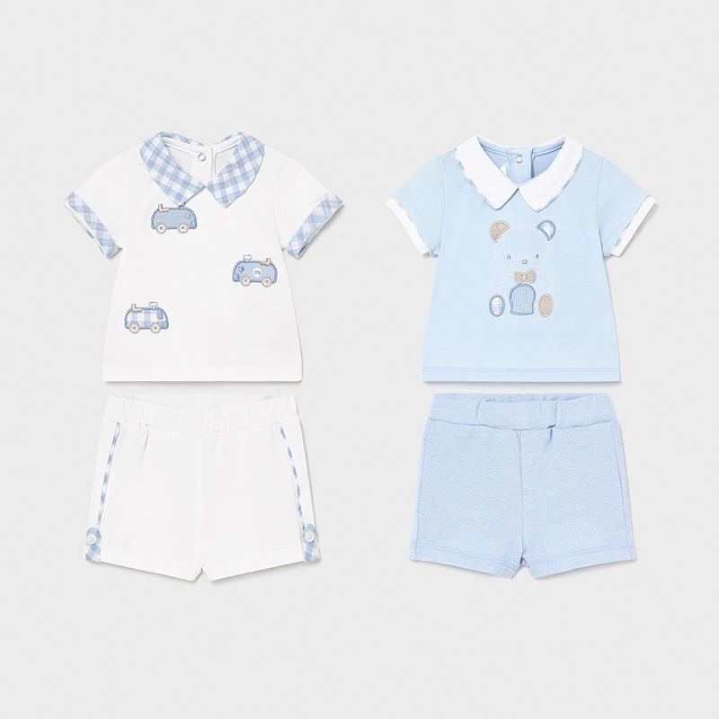 2 футболки и 2 пары шорт «Мишка» (2-4; 4-6 мес)