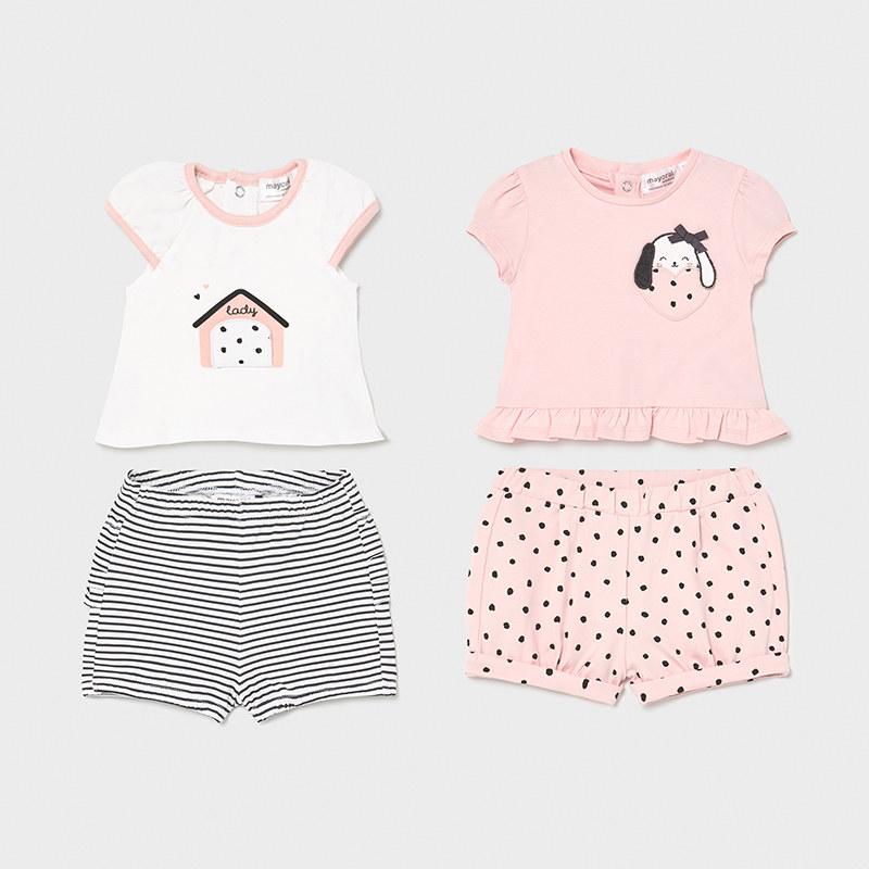 2 футболки и 2 пары шорт «Puppy» (4-6; 6-9 мес)