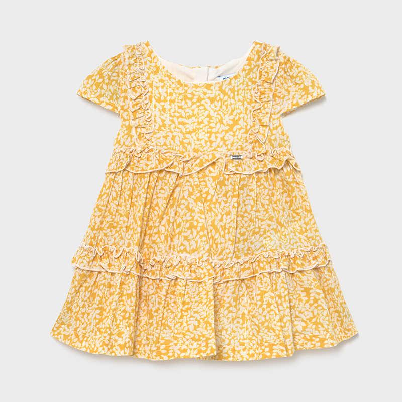 Платье желтое «Цветы»