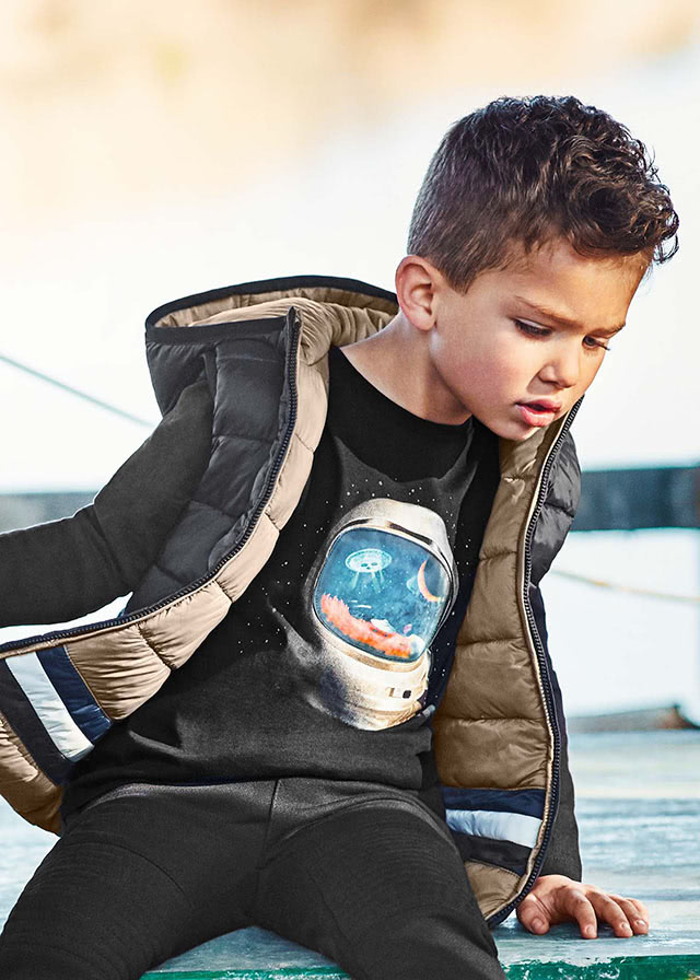 Лонгслив «Космонавт» (от 4 до 9 лет)